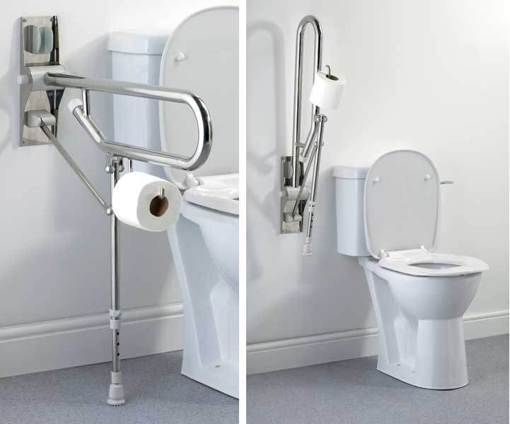 Toilet grab bars for ada, handicap and senior accessibility