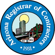 Arizona Registrar of Contractors Licensed