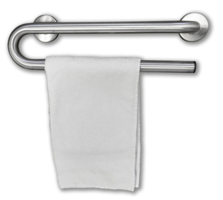 grab bar with towel holder